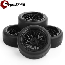 1/10 4pcs/set Foam Rc Car Tires and Wheels Rims For HPI HSP PP0338 + BBNK1:10 Drift RC Cars Model Collectible Toys Accessories(China)