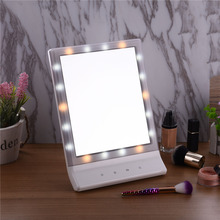 Usb Charge LED Mirror Light 18 Led Lamps Vanity Makeup Mirror Vanity Mirror High-definition Wall Mirrors Make-up Tools Beauty