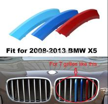 Angelguoguo 3D Clip-on ABS 3 Colors Car Grille Sport Decoration Trim Strip for 2008-2015 BMW X5 Series(China)