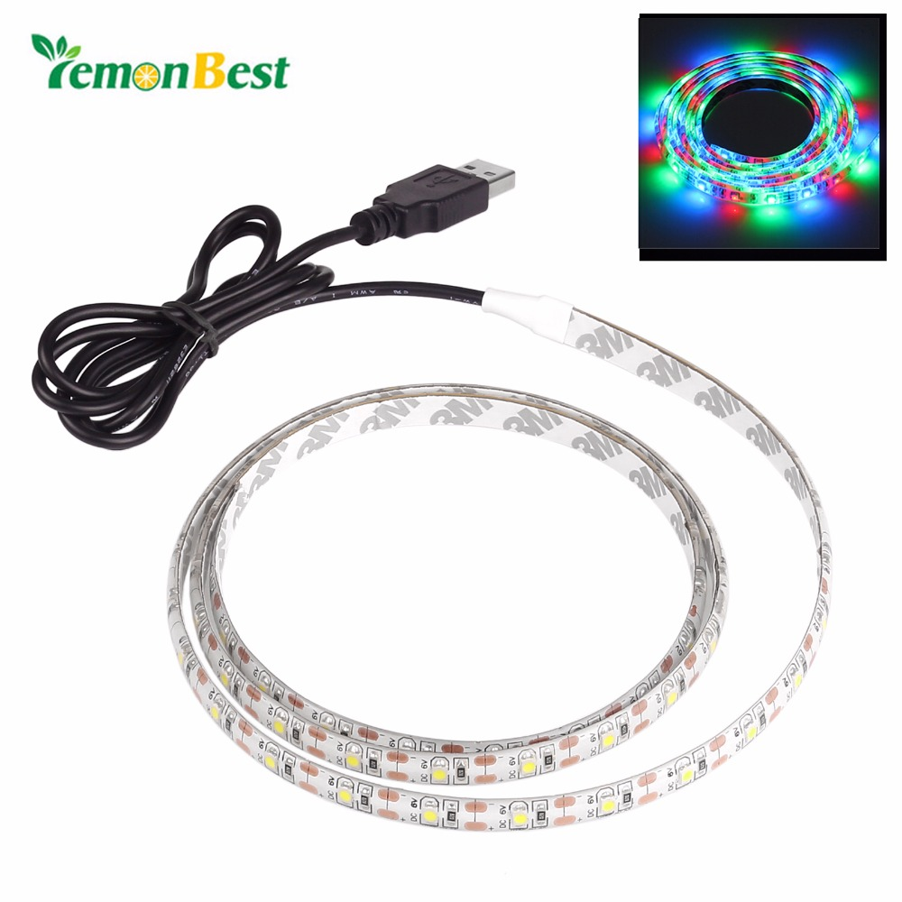 2m/6.6ft Led Strip Light Waterproof 3528 SMD USB 120LED Strip Light String Lamp Cool White Warm White RGB DC5V(China (Mainland))