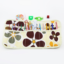 45Pcs/Set Aluminum Crochet With Storage Bag Aluminum Knitting Needles Crochet Markers For Loom Tool DIY Scissors Sewing Sets