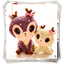 Giraffe Sika deer unicorn big soft toy  plush toys for children cute stuffed animals with big eyes spongebob calico critters