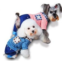 Fashion Small Dog Jumpsuit for Dogs Dog Clothing Small Cat  Pet Clothes  Pink Blue clothing for dogs XS S M L XL Wholesale