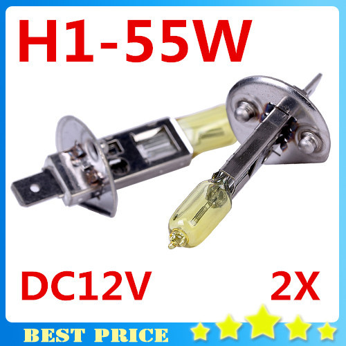 2PCS  H1 Light Bulbs 3000K Halogen Xenon H1 12V 55W Golden Yellow Fog Factory Price Car Styling Parking<br><br>Aliexpress