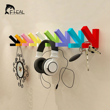 FHEAL Colorful Creative Arrow Wall Mounted Colour Painting Wood Hook Hanger Hat Coat Door Clothes Rack Decorate