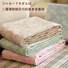 Double layer 100% cotton gauze single double air conditioning blanket child bed sheets(China)