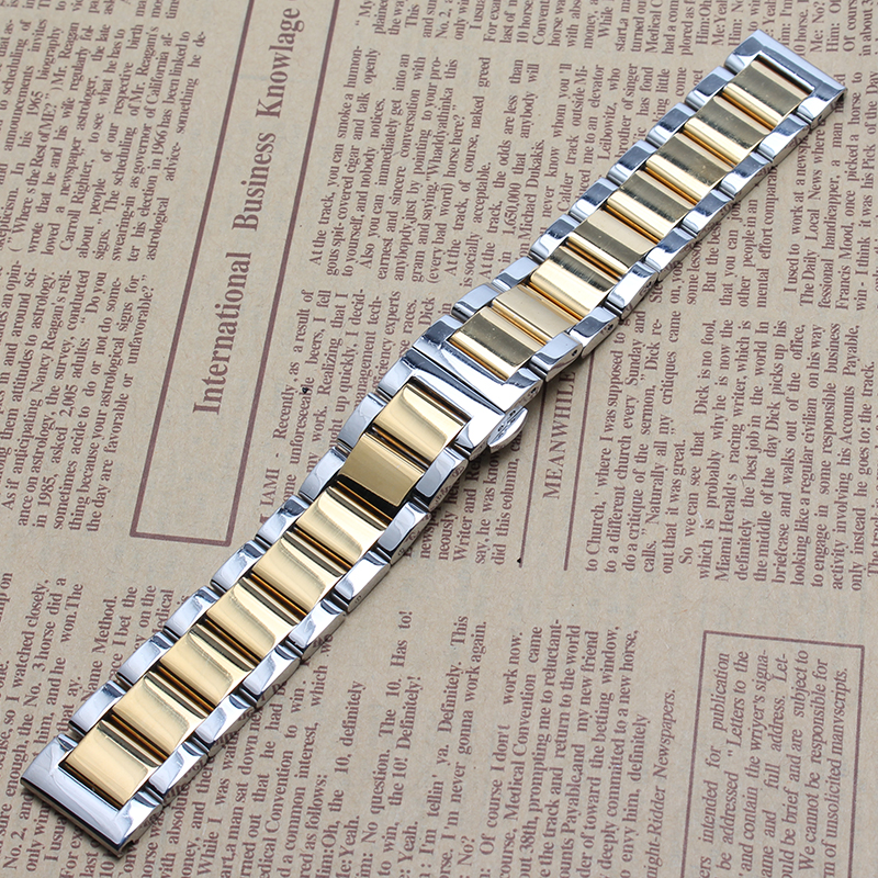 18mm 20mm 21mm 22 23mm watchband Replacement Stainless Steel Watchbands Solid link Bracelet straight end watch strap Silver gold<br><br>Aliexpress