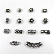 Buy 10pcs/lot Antique Silver Big Hole Tube Spacer Beads Jewelry Making Fits European Beads Charms Bracelet Jewelry Findings Z85 for $2.12 in AliExpress store