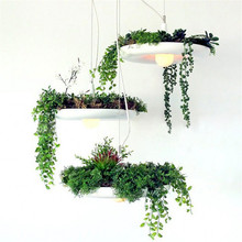 2017 Free Included Bulbs Babylon Plants pendant Lamp Pots Potted Plants lamp light White flowerpot Lighting Flower lamp plant(China)