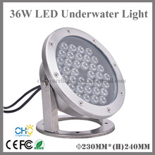 Free shipping 2pcs wholesales 36w IP68 waterproof led underwater light swimming pool fountain lamp(China)