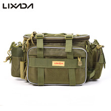 Lixada Fishing Lure Reel Bag 40*15*19cm Shoulder Waist Pack Pouch Pole Canvas Multifunction Package for Carp Fishing Tackle(China)