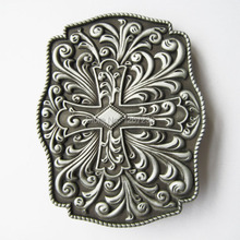 Distribute Belt Buckle Original Western Flowers Cross Belt Buckle Free Shipping 6pcs Per Lot Mix Style is Ok