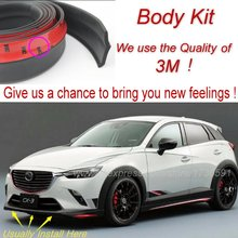 Bumper Lip Deflector Lips For Mazda CX3 CX-3 CX 3 Akari 2015 Front Spoiler Skirt For Auto to Car Tuning View / Body Kit / Strip
