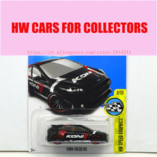 New Arrivals 2017 Hot 1:64 Car wheels Black  Ford Focus RS Metal Diecast Cars Models Collection Toys Vehicle For Children