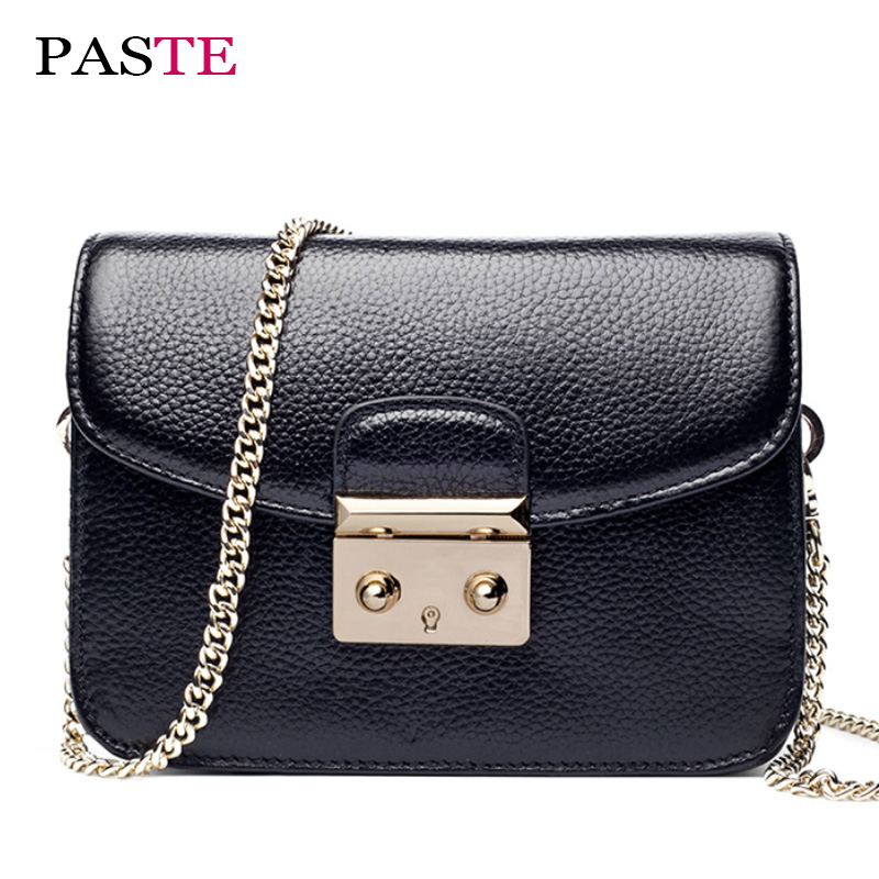 High Quality 100% Genuine Leather Chains Handbags Shoulder women bag Famous Brands Fashion Small  Soft Channels Crossbody Bags<br>