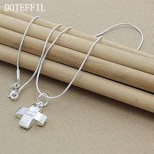 "2016 New Women's Fashion Vintage Silver Cross Pendant 18"" Short Necklace N323 Free Shipping"