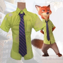 Cos ZOOTOPIA Nick Wilde Cosplay Costume Fox Cos ZOOTOPIA Nick Cosplay Clothing Only Shirt  and Tie