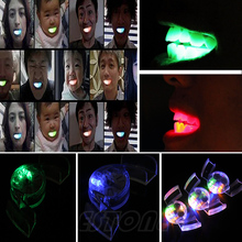 Wholesale 1PC Mouth Guard glow in the dark up LED Light  Mouthpiece Flashing Piece Party Supply