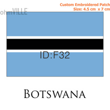 F-32 BOTSWANA Custom Flag Patch Iron On Patches - 100% Quality Guarantee Flag Embroidered Patches