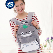 Plush cartoon children shoulder bag totoro backpack for kids baby boys and girls plush toy backpack