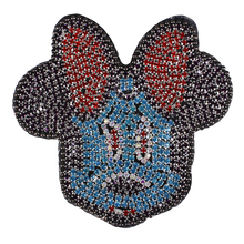 10piece Beaded Crystal Cartoon Mouse Minnie Applique Strass Repair Patches Badges Motif for Bag Dress Clothes Craft Sewing TH708(China)