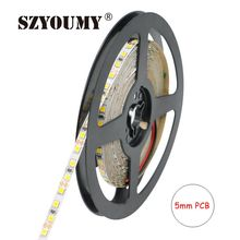 SZYOUMY 12V 2835 LED Strip 5mm Slim 8MM Strip IP20 Non-Waterproof 120leds/M 5m/Roll LED Strip White/Warm White/Blue/Red/Green