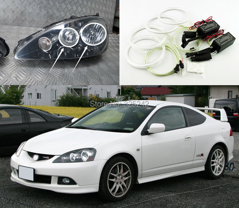 For Acura RSX Type R 2005 2006 Excellent Angel Eyes kit Ultrabright illumination ccfl angel eyes kit Halo Rings<br><br>Aliexpress