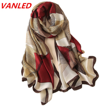 2017 summer new luxury brand women scarf fashion print quality silk scarves designer shawls and wraps long size bandana foulard