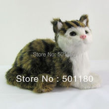 free shipping art model cat sculpture ornament cat love cat for home decoration(China)