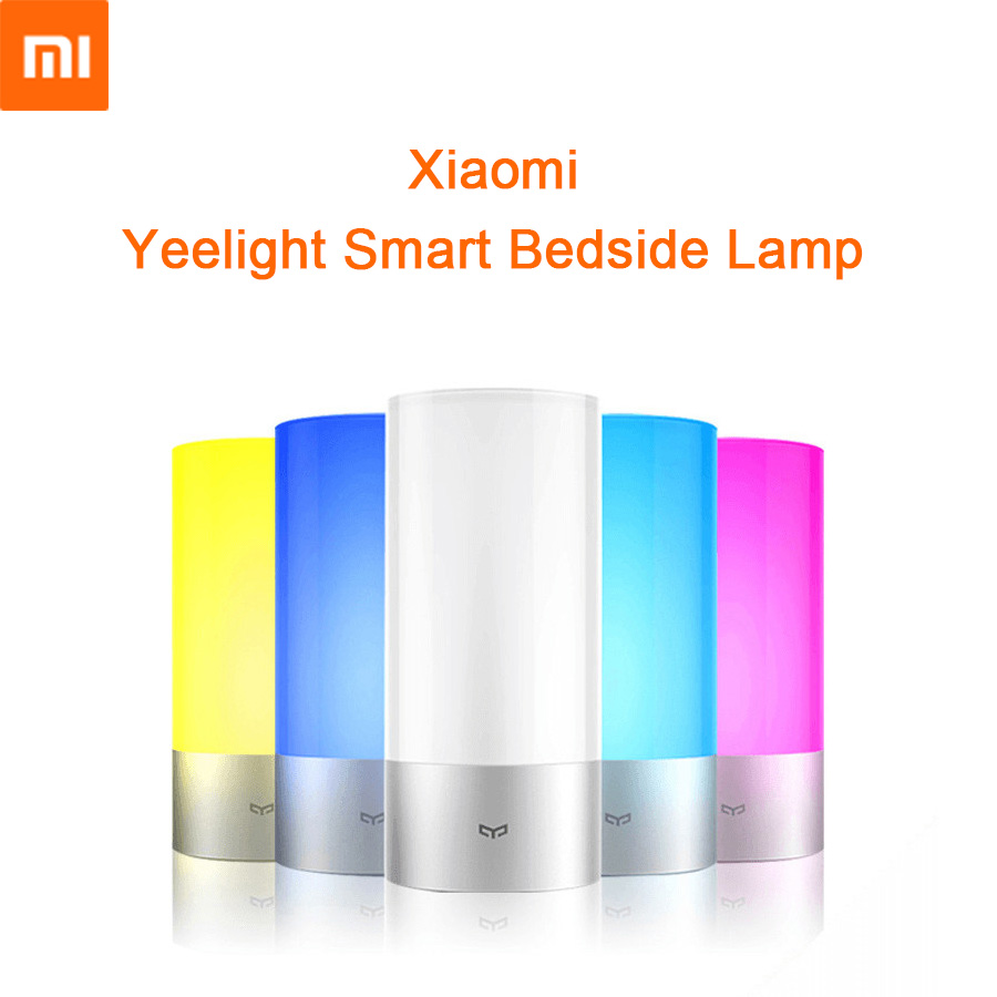 Original Xiaomi Yeelight Smart Lights Indoor Bed Bedside Lamp 16 Million RGB Lights Touch Control Bluetooth Mijia APP