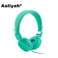 Aaliyah Wired Headphone with Microphone New Cartoon Earphones For Computer Pink Headset Auriculares Headphones For Girls Samsung(China)