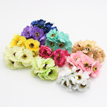 12pcs/lot(6heads/bundle) diameter 5cm Silk Artificial flower Bouquet Wedding Decoration Mini Rose Flowers For dector 027010014