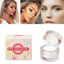 2 in 1 Silky White Loose Makeup Eye Make Up Face Brighten Highlighter Shining Shimmer Powder Pigment Single Eyeshadow Palette