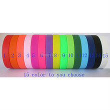 300pcs Custom 15 COLOR wristband silicone bracelets free shipping by FEDEX express