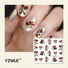 YZWLE 2017 New Hot Sale Water Transfer Nails Art Sticker Manicure Decor Tool Cover Nail Wrap Decal (YZW123)(China)