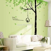 Modern Bedroom Accessories Green Trees Removeable Sofa TV Wall Stickers Adesivo De Parede Large Tree Branch Home Decoration