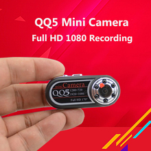 QQ5 Spied Camera Full HD 1080P IR Night Vision DV Camera Mini Camera Camcorder 12MP Webcam 170 Wide Angle Motion Detection Cam