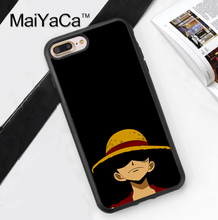 One Piece Monkey D. Luffy Printed Soft Rubber Cover for Apple iPhone 7 7Plus 6 6S Plus 5 5S 5C SE 4S Hard Plastic Phone Cases
