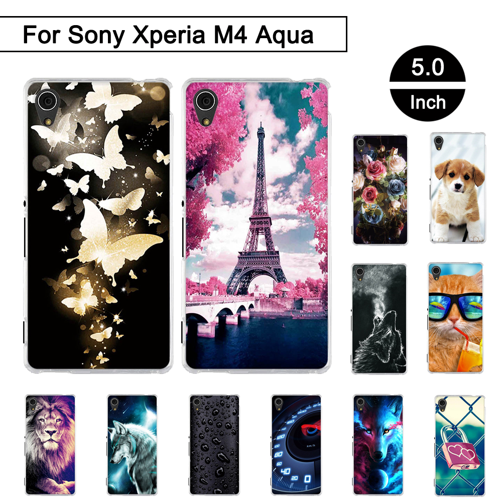 Case Sony Xperia M4 Aqua 5.0 inch Cover Back Phone Case Sony Xperia M 4 Aqua Silicon Cover Sony Xperia m4 aqua Shell