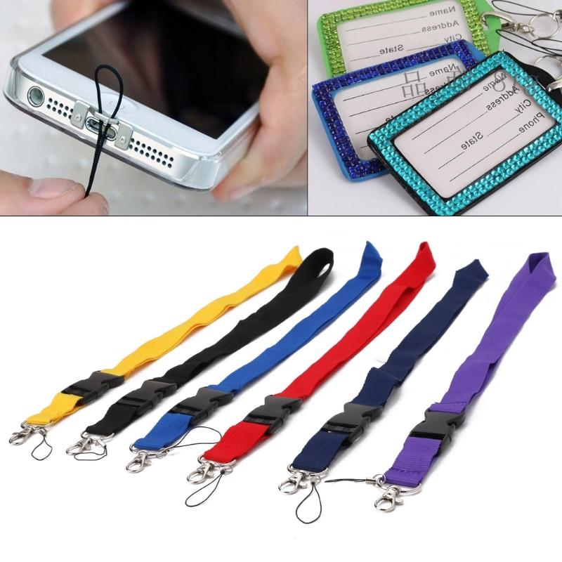 ORANGE  METAL CLIP NECK STRAPS FOR  CAMERA,MOBILE PHONES,ID CARD NEW*V66**