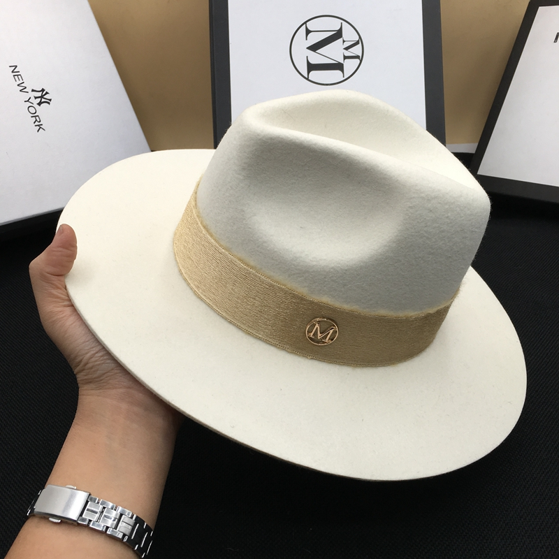 Lana otoño hombre blanco temperamento dama sombrero de fieltro joker Panamá  restaurar antiguas formas 30e71deaa60