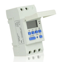 CE Approved 220VAC DIN RAIL DIGITAL PROGRAMMABLE TIMER SWITCH Microcomputer Electronic Weekly Relays Control Timer Controller(China)