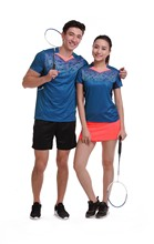 New badminton wear sets Quick Dry breathable Tennis sportswear , Women/ Men table tennis shirt , Ping pong shirt + shorts  1011