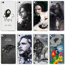 234GH jon snow game of throne Hard Transparent Cover for Huawei P7 P8 P8 P9 Lite Honor 4C 5C 6 7 8  & Nova