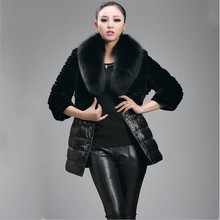 Women Winter Black Faux Fur Coat Patch Work Female Artificial Fur Coats With Faux Fur Collar Heavy Warm Women Coats A2657