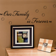 our family is forever vinyl wall art decals quotes living room home decor adesivos de parede diy black stickers