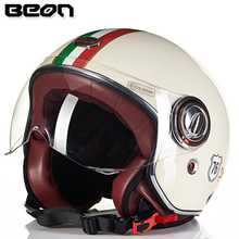 BEON Vintage Off Road Motocross Men Feminino Motorcycle Helmet Open Face Vespa Casco Capacete Motociclistas B109(China)