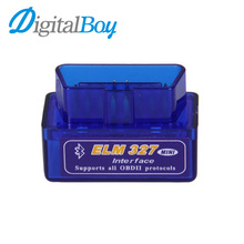 New V2.1 Super Mini ELM327 Bluetooth Interface OBD2 OBD II Torque Car Diagnostic Tester Tool Tracking Code for Android Computer