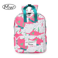 New Design Fruit Vegetable Printing Backpack Women Canvas Tote Backpack School Bags For Girls Laptop Backpack Mochila Mujer 2016