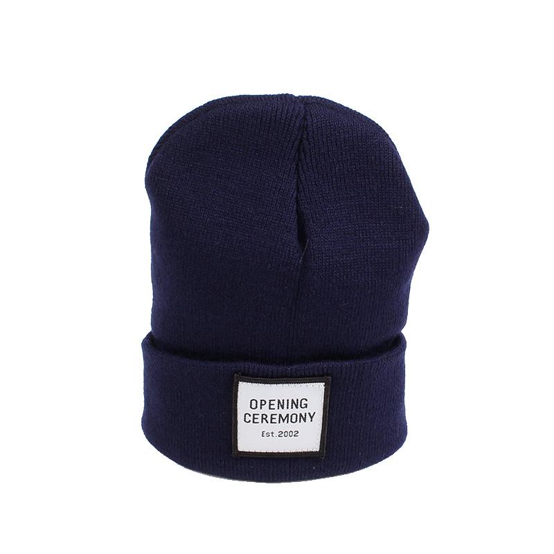 Knitted Cotton Women Beanie Hats Fashion OPENING CEREMONY Women Hats Autumn Winter Warm Female Hat Letter Hip Hop Women Skullies (7)